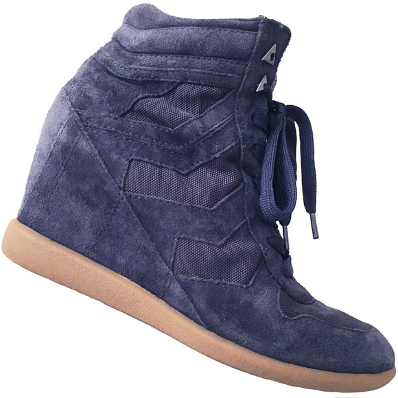 91fc0a8a70e0 SAM EDELMAN Bennett High Top Wedge Sneaker Navy.  M 5c61afab7386bc8479373d28. Other Shoes ...